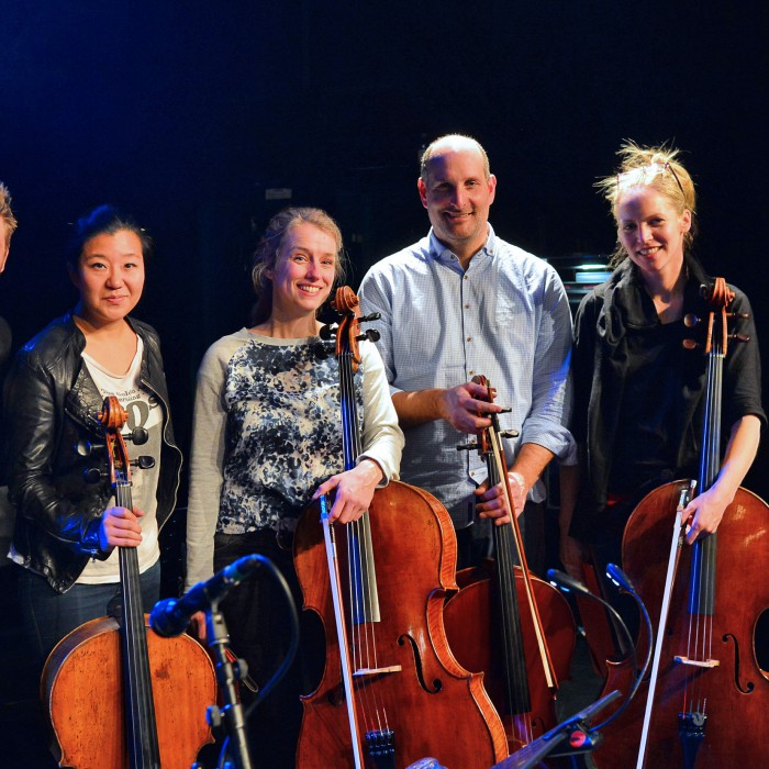 Neuer Deutschen Jazzpreis Mannheim in der Alten Feuerwache Wettbewerbsabend 14.03. Bild zeigt Lutz Haefner (Saxophon) Rainer Boehm (Klavier) Plus Celli © Rinderspacher